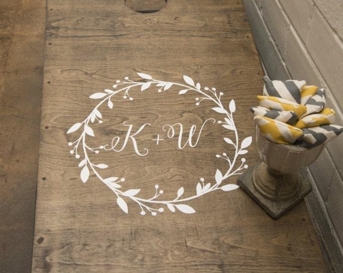 Wedding Cornhole Decals | Wedding Monogram | Bride and Groom Initials | DIY Wedding Decor | Wedding Gifts for Couple