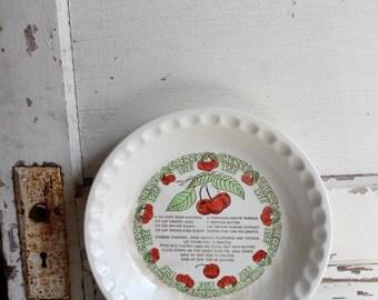 Vintage Cherry Pie Recipe Deep Dish Pie Plate