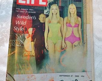 Vintage Life Magazine Sweden's Wild Style Humphrey September 27 1968