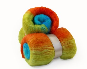 Hot Peppers Merino Wool Batt- 3.8 oz