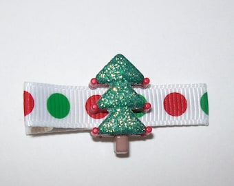 Girls Hair Accessories - Resin Hair Clips - One Dollar -  Glitter Christmas Tree Resin Hair Clippies - Hair Clip Hair Clippie - One Dollar