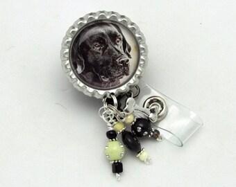 Black Lab Badge Reel - Designer Badge Reels - Dog ID Wear - Badge Reel Jewelry - Lab Gifts - Professional ID Wear - Badge Reel Gifts - ID