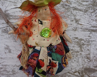 Primitive HALLOWEEN WITCH DOLL Shelf Sitter--Hilda