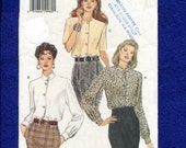 Vogue 9070 Classic Blouses with Shoulder Pads and Collar Choices  Sizes 6..8..10