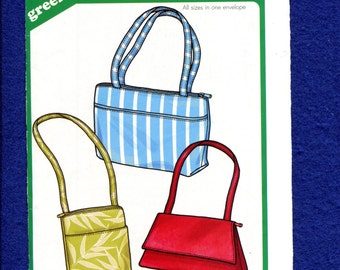 Green Pepper F856 Purses with Zipper Closures in Three Styles UNCUT