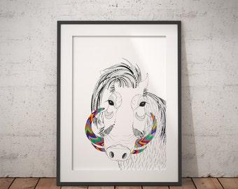 Warthog illustration | Print | animal print | animal illustrations | african art | pattern