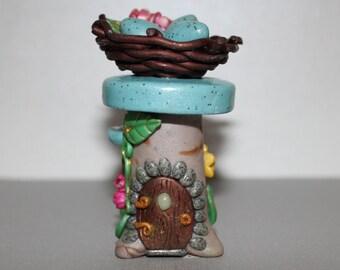 Delightful Bird's Nest Fairy House #2