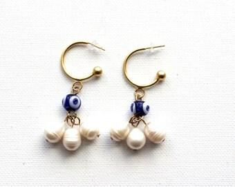Boho Bride Earrings // Bohemian Bride Earrings // Eye Eye Earrings // Boho Tassel Earrings // Evil Eye Jewelry // Boho Earrings Women