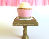 12 Pink & Gold Glittered Cupcake Wrappers-pink and gold cupcake wrappers-pink and gold shimmer cupcake wrappers-12