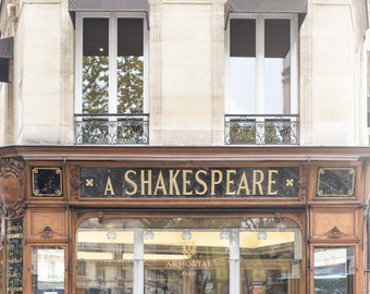 Paris Photograph, The Shakespeare Armorial, Paris Stationery Shop, Large Wall Art, French Home Decor, Travel Fine Art Photograph