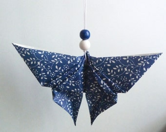 Dark blue and white Butterfly pendant