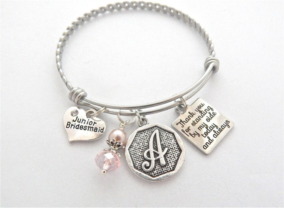 Wedding Gifts For Junior Bridesmaid : Gift, Junior Bridesmaid Bracelet, Gifts for Jr. Bridesmaids, Bridal ...