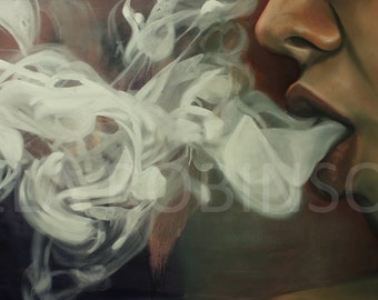 Smoke - Original Art Print - 10x20""
