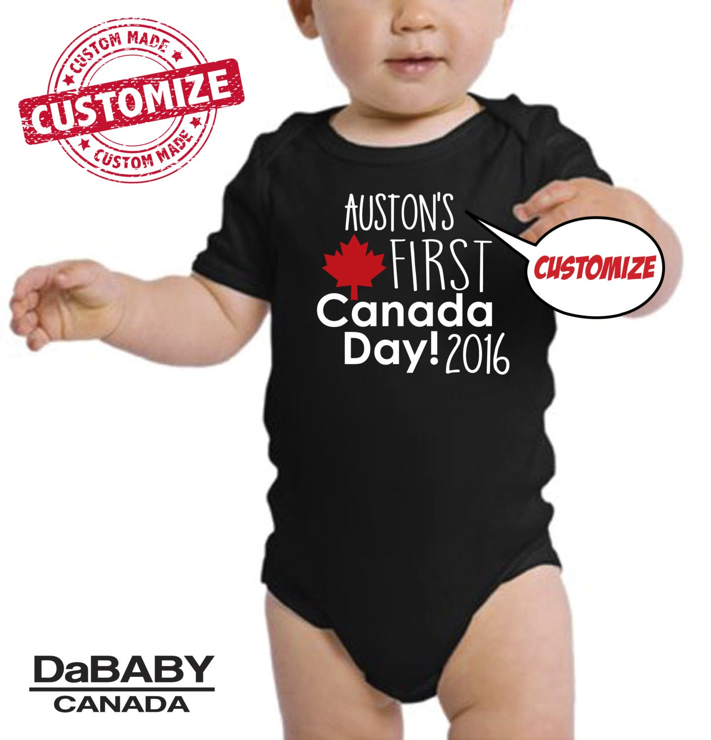 1st Canada Day esie Trendy Kids Clothes Urban Baby by DaBABY