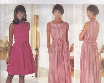 Unusual Faux Wrap Dress Pattern Butterick 3935 Size 6 - 12