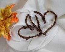 Rustic Wedding Twig Heart Minis