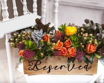 Reserved Table Sign Decal, Wedding Table Reserved, DIY Wedding Sign, Wedding DIY,Removable Decal for Wedding,Chalkboard Decal,Reserved Decal