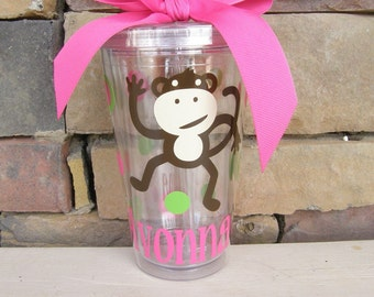 Monkey Birthday Party -Teacher Tumbler- Monkey Gifts