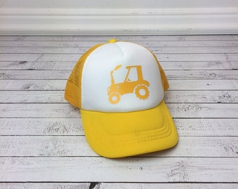 Tractor Trucker Hat for Kids, Foam Mesh Hat, Youth Hat, Red Hat, Funny Hats, Youth Hat, Childrens Hats, Tractor