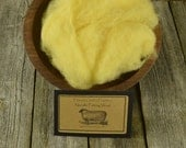 Needle Felting Wool - Lemon Creme - Wet Felting Wool