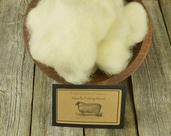 Needle Felting - Wool - White- Wet Felting Wool