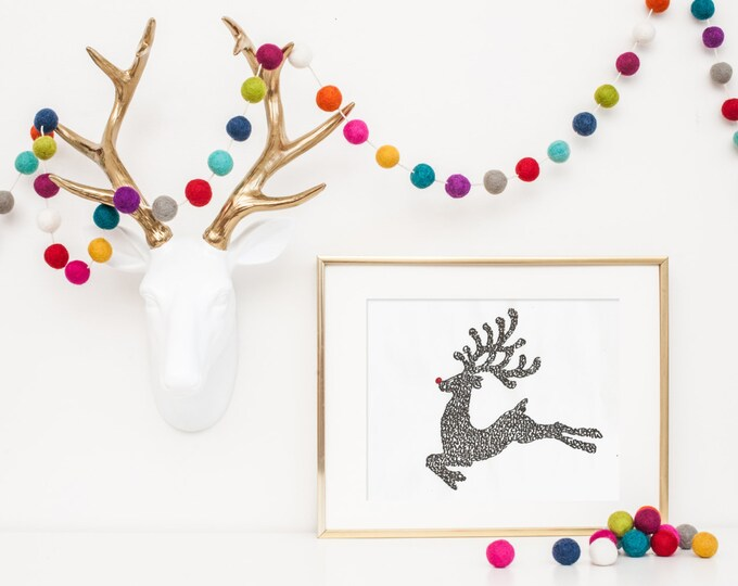 Rudolph the Red Nose Reindeer - A Limited Edition Print of a  Hand-lettered Image Using the Carol