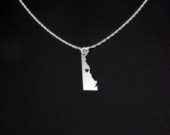 Delaware Necklace - Delaware Jewelry - Delaware Gift