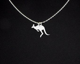 Kangaroo Necklace - Kangaroo Jewelry - Kangaroo Gift