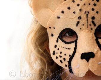 Cheetah Mask PATTERN. Kids Cheetah Costume Digital Pattern.