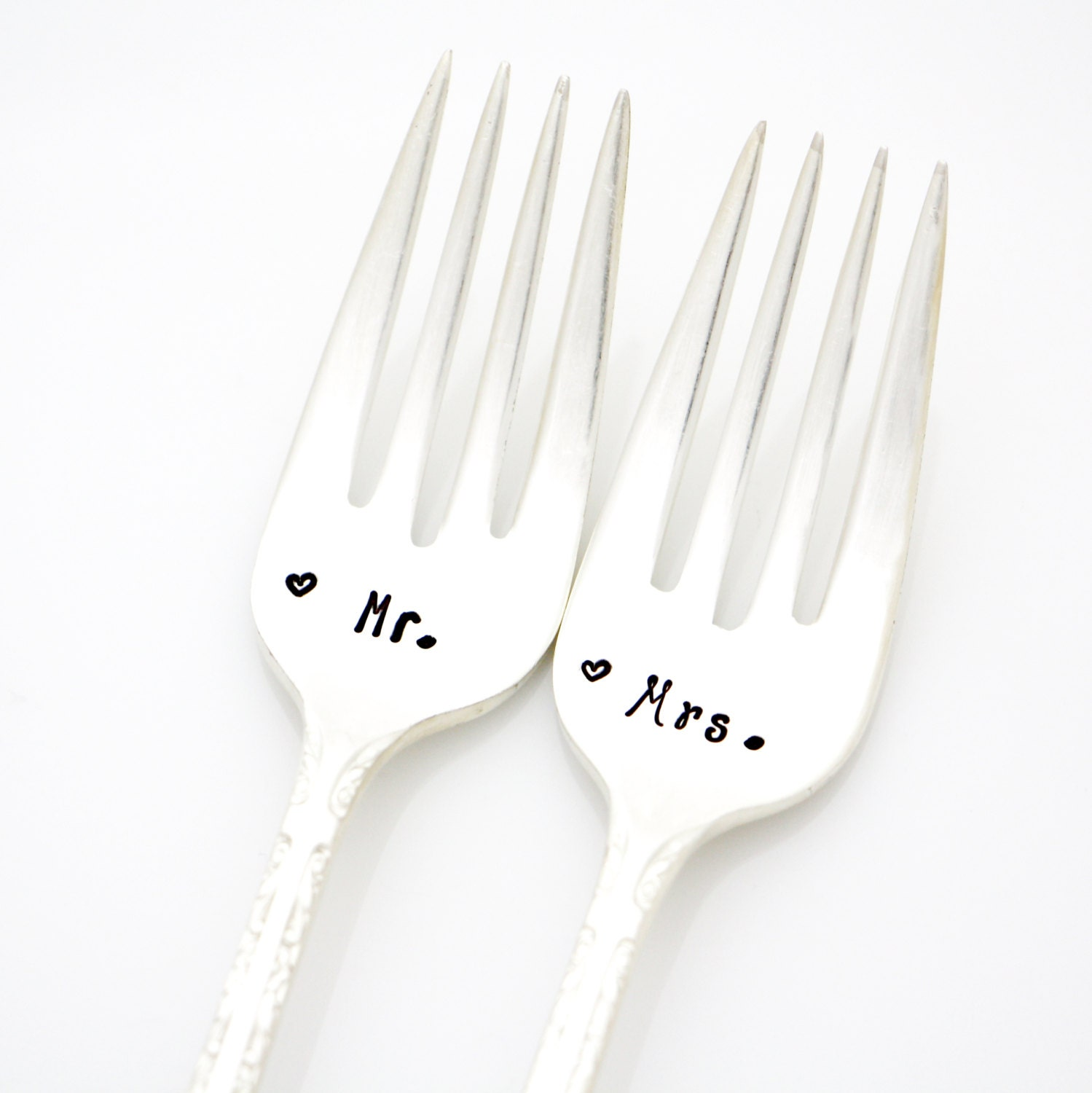 Silverware Wedding Gifts: Mr And Mrs Forks. Wedding Silverware For Unique Engagement