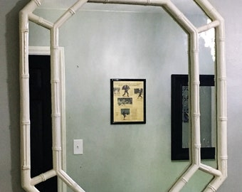Faux Bamboo Octagonal Mirror-Local Pick up Akron, Ohio or your shipper