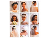 1990s Bridal Veils Head Piece Sewing Pattern McCalls 2057 UNCUT FACTORY FOLDED