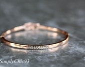 Swarovski Bangle, Bracelet, Rose gold ,Black diamond, Grey Crystals,Couture, Bridal Gift,Pink Gold Bracelet, Rose Gold Cuff,Wedding Jewelry