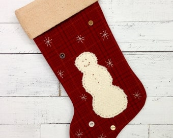 Personalized Christmas Stocking, Rustic Christmas Stocking, Cabin Stocking, Large Christmas Stocking, Snowman Stocking, Christmas Decoration