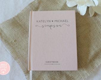 Wedding Guest Book, Wedding Guestbook, Custom Guest Book Personalized, Custom design wedding gift keepsake -Style 501