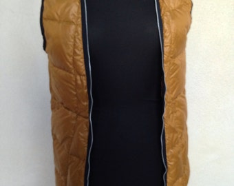 Vintage jacket liner vest down feathers quilted zipper by Bauer sz s