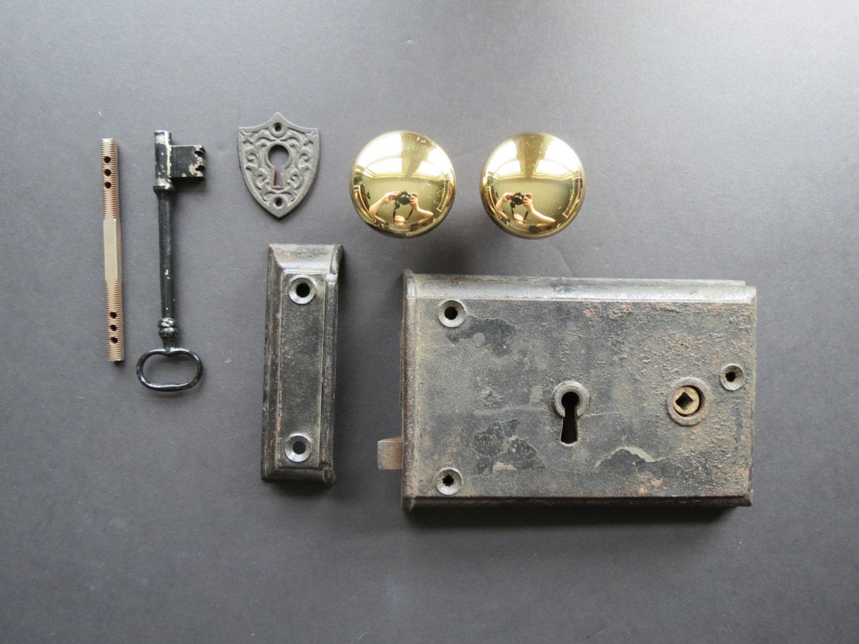Reproduction Antique Door Locks vintage door hardware set // reproduction antique style dramatic
