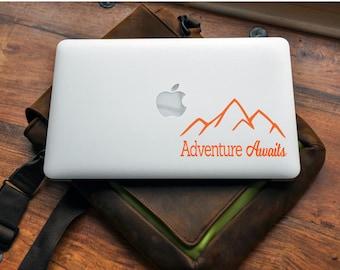 Adventure Awaits   Adventure Decal, Adventure Awaits Decal, Adventure Laptop Decal, PNW Decal, PNW Sticker, Mountain Decal, Laptop Decal