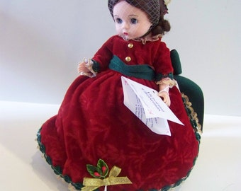 Victorian Christmas Madame Alexander 8 inch doll