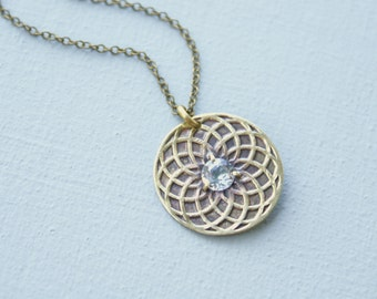 Circle of Life necklace - topaz