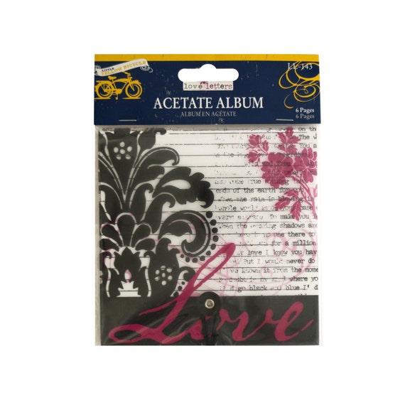 Valentine Mini Album Acetate Love / Little Yellow Bicycle