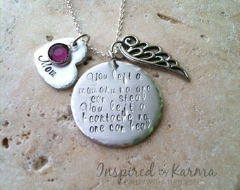 Personalized Memorial Necklace, Memorial Jewelry, Remembrance Necklace, Loss Jewelry, Memorial Gift, Sympathy Necklace, Sympathy Gifts,
