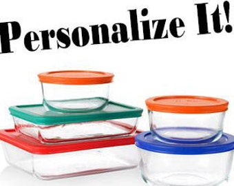 Personalized Etched Glass Pyrex 10 Piece Set