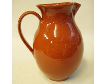 Greek Wine Pitcher, clay pitcher, ceramic pitcher, terra cotta, pottery pitcher, wine jug, rustic, carafe, Mediterranean, Crete, Greece