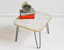 Hairpin tripod, 60s plant table hair pin legs, Mid Century modern flower table