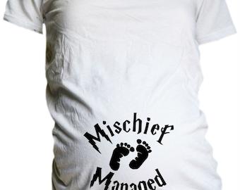 Harry Potter  Maternity T Shirt /  Harry Potter  Mischief Managed T Shirt / Harry Potter Mother to Be Shirt / Harry Potter Shower Gift