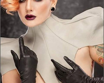 Leather Collar/Neck Shoulder Corset/Neck Corset/Shoulder Corset/ Dramatic Shoulder Corset/ Leather Corset/ Genuine Leather Neck Cosrset
