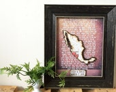 Custom State Map - Wedding Vow Art - Anniversary Gift - Personalized Gift