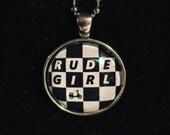 British subculture necklace: Rude girl - Rude Boy - ska