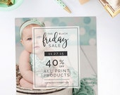 SALE Black Friday Template, Photography Marketing Template, Holiday Marketing Templates, Christmas Marketing Templates, Instagram - AD207